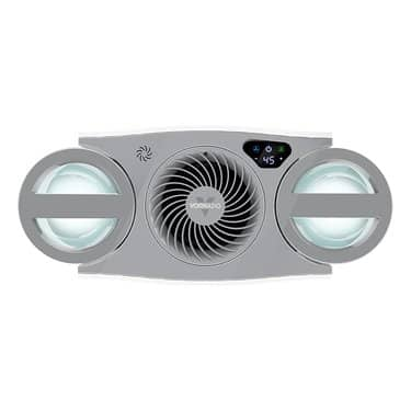 Evaporative humidifier top view