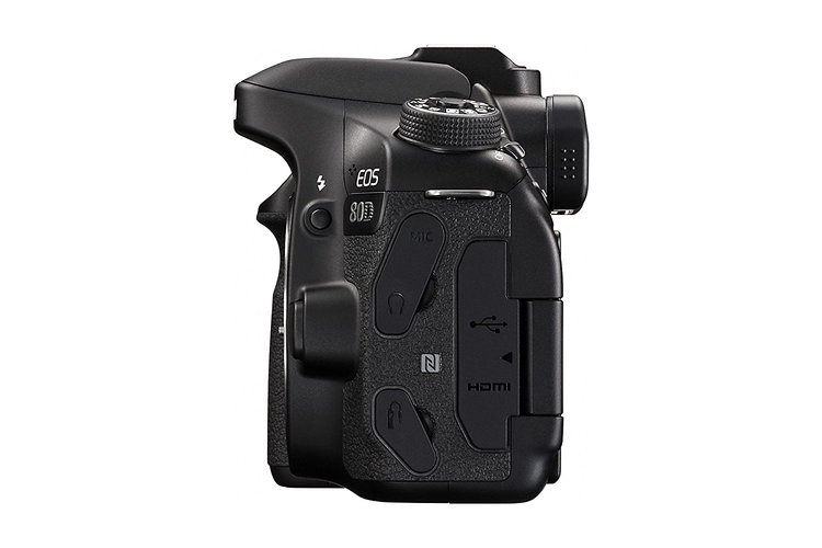 Canon EOS 80D Digital SLR Camera-side view