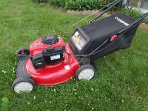 mowing on hills