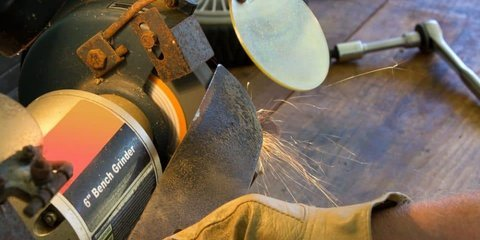 How to Sharpen Mower Blades with an Angle Grinder